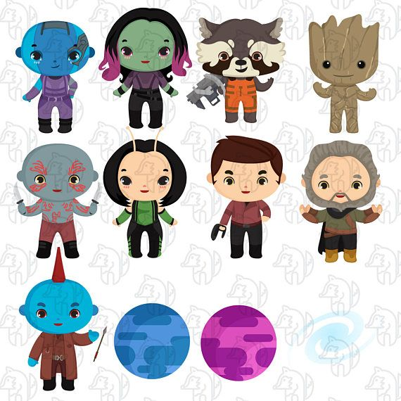 20% OFF Guardians of The Galaxy Clipart marvel GOTG