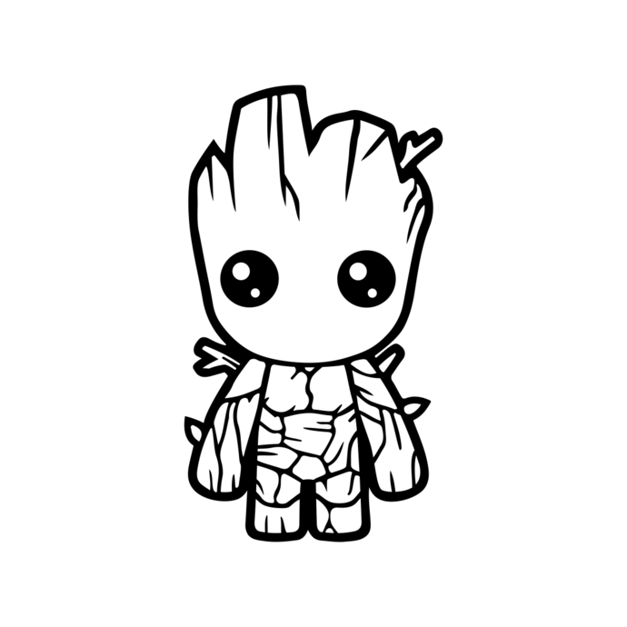 Baby Groot Guardians of the Galaxy graphics design SVG DXF PNG Vector Art