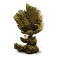 Baby Groot Transparent PNG Image