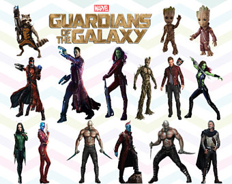 Guardians of the Galaxy Vol. 2 Clipart PNG Files, Printable Clipart,  Transparent Background