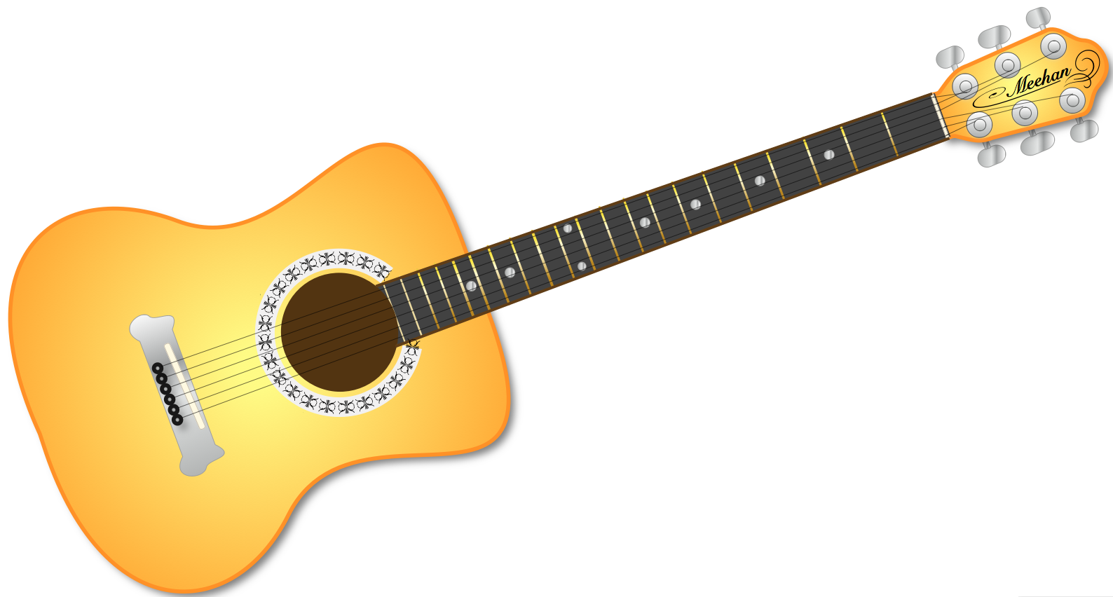Guitar Black And White Music Png Clipart-Guitar Black And White Music Png Clipart Free Clip Art Images-5