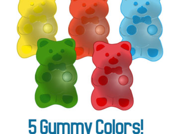 Gummy Bear Clip Art Instant Download for Stickers Cards Tags