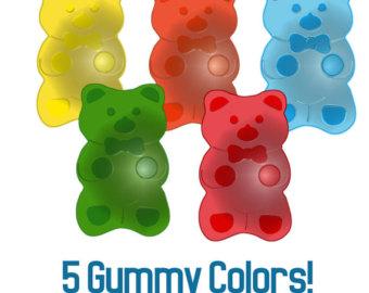Gummy Bear Clip Art Instant Download for-Gummy Bear Clip Art Instant Download for Stickers Cards Tags-16