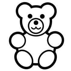 Gummy Bear Outline Clip Art. Gummy Bear Black And White .