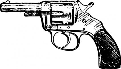 Gun pistol clip art vector .