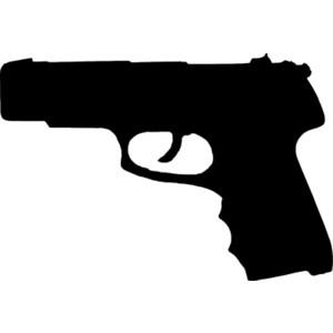 Gun Silhouette clip art black , with Bla-Gun Silhouette clip art black , with Black..and images so good,,-13