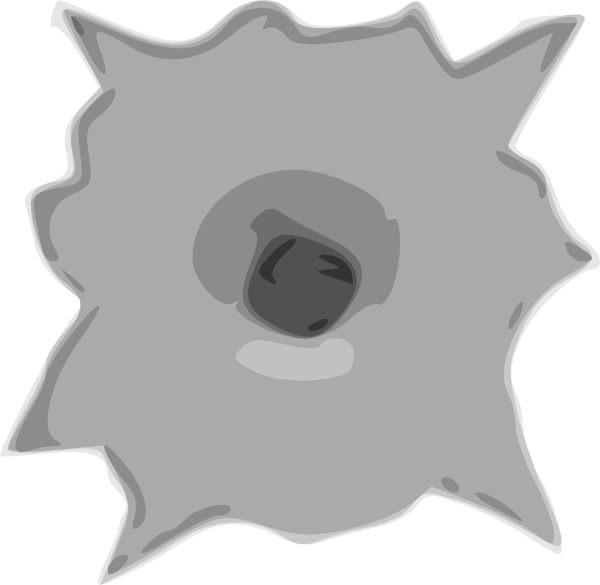 Bullet Hole Clip Art at Clker clipartlook.com - vector clip art online, royalty free u0026  public domain