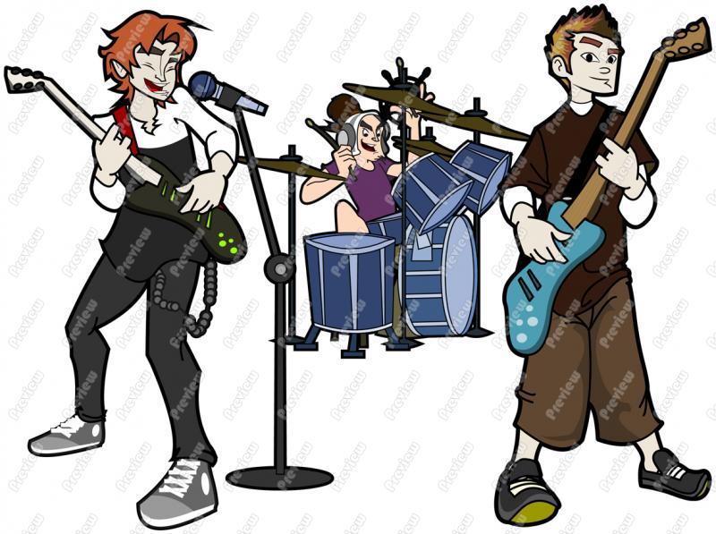 Guy Rock Band Character Clip Art Royalty-Guy Rock Band Character Clip Art Royalty Free Clipart Vector-14