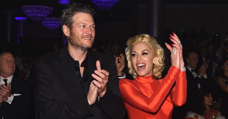 Gwen Stefani And Blake Shelton Got Into -Gwen Stefani and Blake Shelton got into some major PDA at friendu0027s wedding  and it was-9