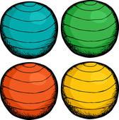 Fitness Ball Woman; Pilates Ball Colors