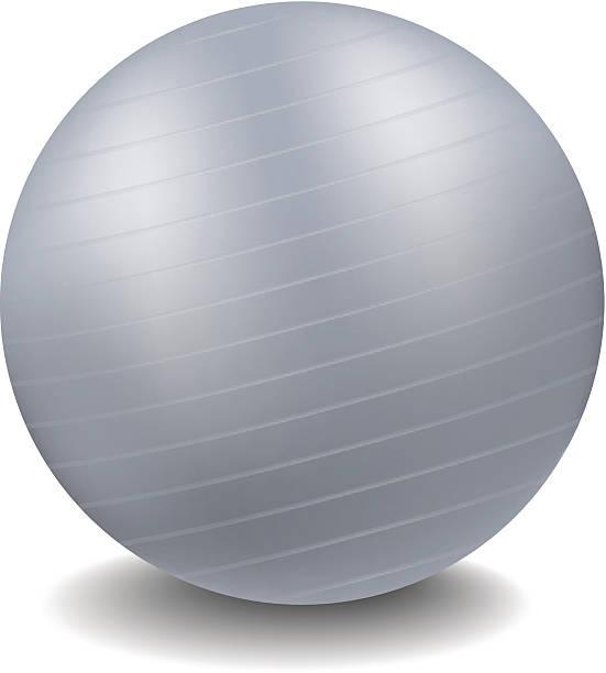 Grey gym ball vector art illustration