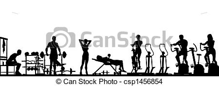Gym foreground - Editable vector foreground of a gym scene.