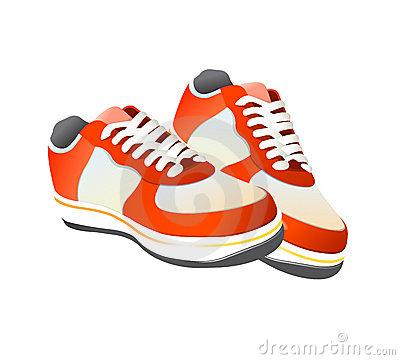 Gym shoe clip art