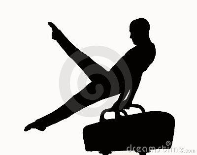 gymnastics clipart silhouette-gymnastics clipart silhouette-16
