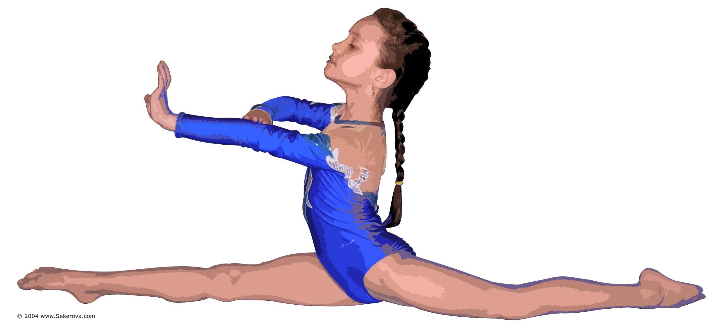 Gymnastics clip art 2 clipartcow