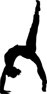 Gymnastics Clipart Black And ..