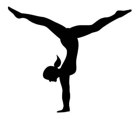 Gymnastics Clipart For Kids . - Gymnastics Silhouette Clip Art