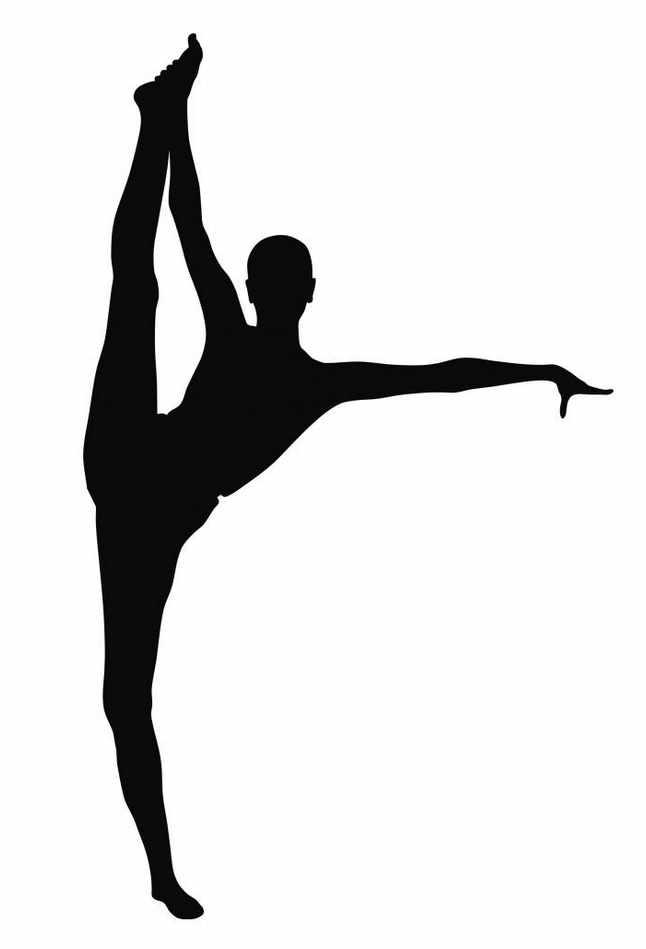 Gymnastics clipart tumbling c - Gymnastics Silhouette Clip Art