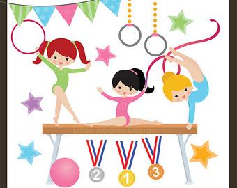 Gymnastics cliparts