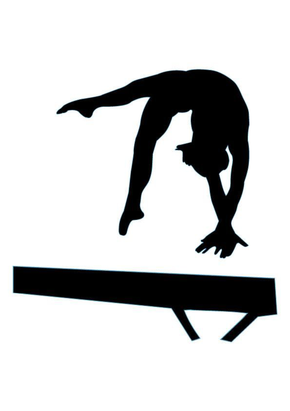 Gymnastics Silhouette - 17 : Custom Wall-Gymnastics Silhouette - 17 : Custom Wall Decals, Wall Decal Art, and Wall Decal-12