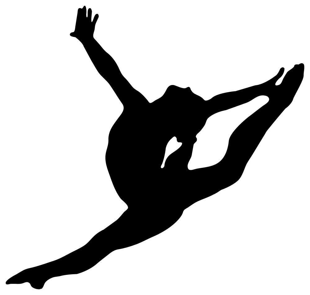 Gymnastics Silhouette Leap Cl - Gymnastics Silhouette Clip Art