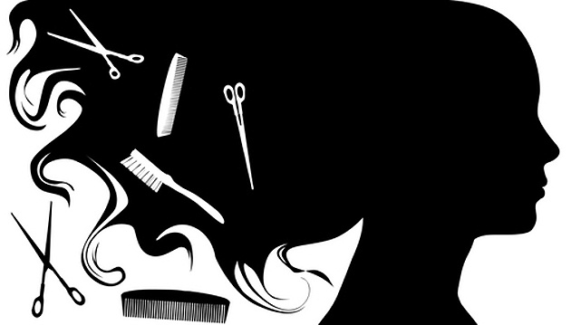 hair clipart black and white - Hair Stylist Clipart