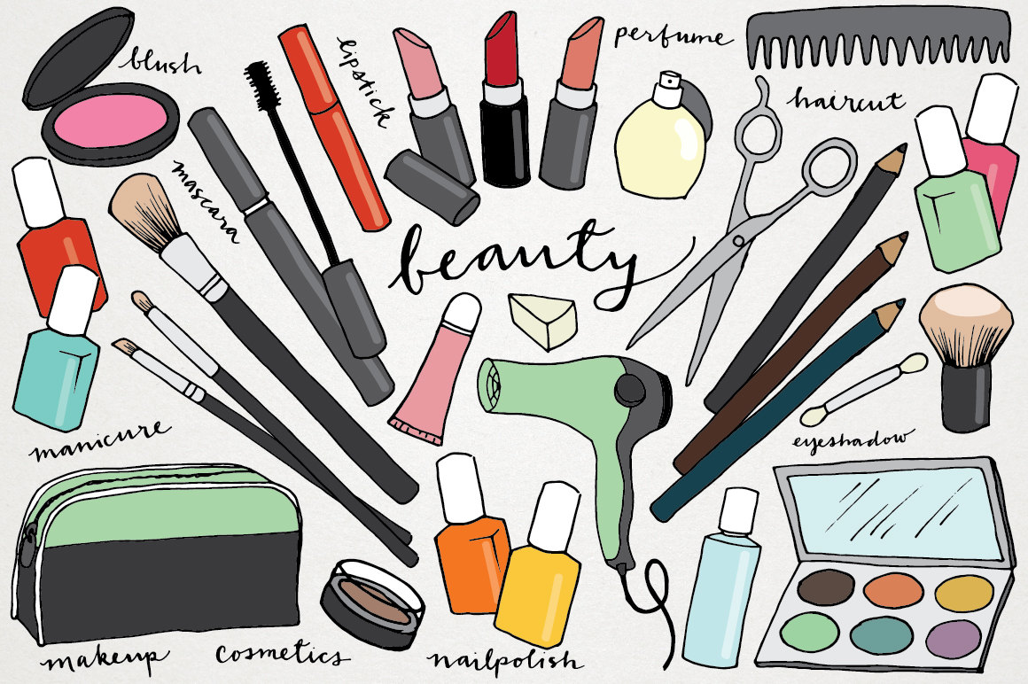 Hair and makeup clipart - .
