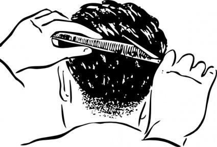 Hair cut clip art - .