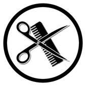 hair dresser u0026middot; haircut or hair salon symbol
