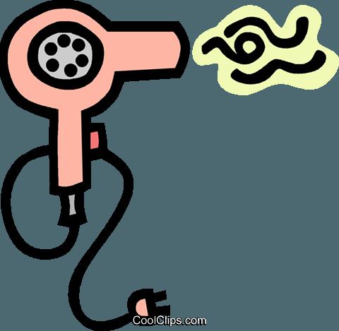 hair dryer Royalty Free Vector Clip Art illustration
