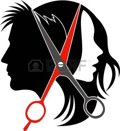 haircut: Illustration art of salon concept on isolated background Illustration
