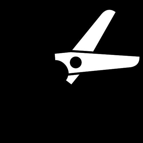 Half-open Scissors Vector Graphics-Half-open scissors vector graphics-6