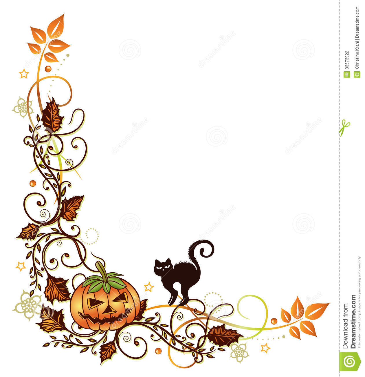 halloween border clipart - Halloween Border Clip Art