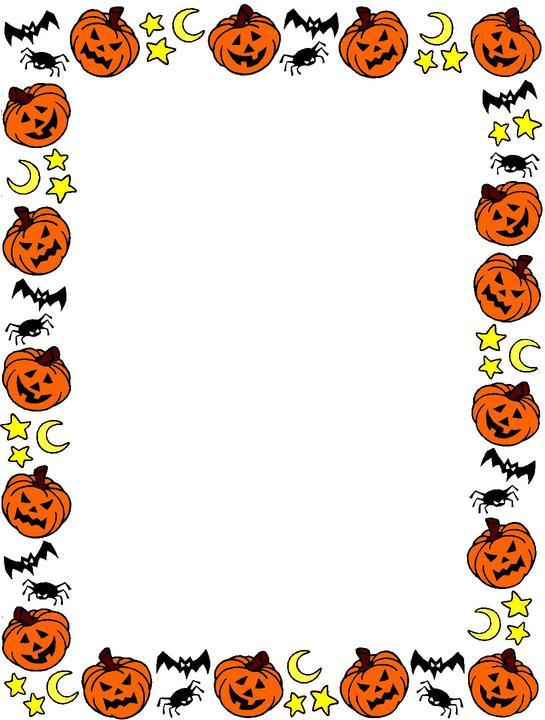 halloween border clipart - Halloween Clip Art Borders