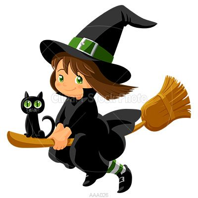 HALLOWEEN BABY WITCH CLIP ART-HALLOWEEN BABY WITCH CLIP ART-6
