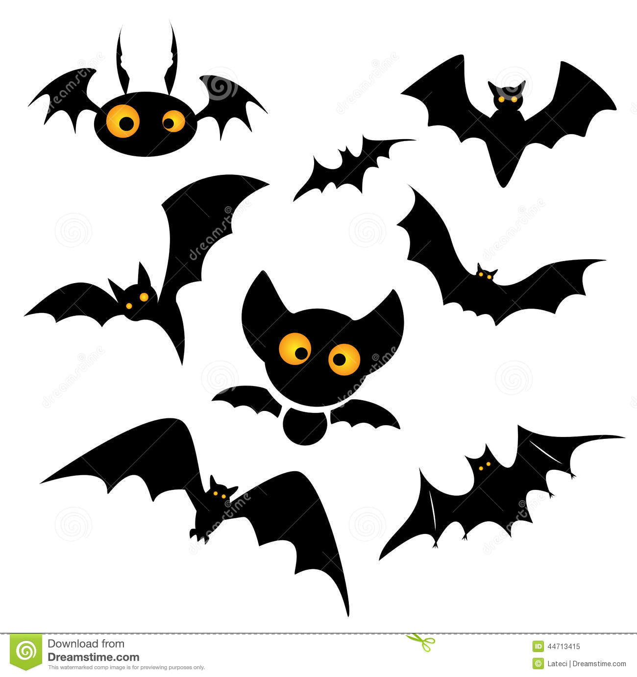 Halloween bat clip art .