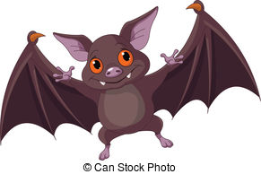 ... Halloween bat flying - Illustration of Cute Cartoon.