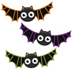 Halloween Bats SVG cutting .