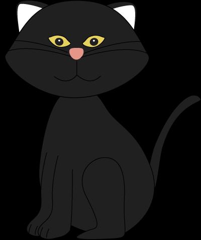 Halloween Black Cat Clip Art - Halloween Black Cat Image