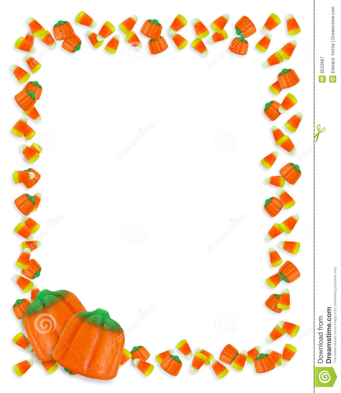 Halloween Border Candy Corn Royalty Free Stock Photography Image