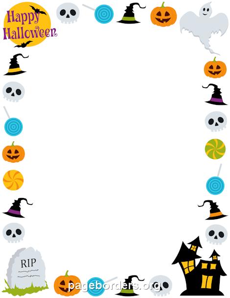 Halloween Border Clipart .