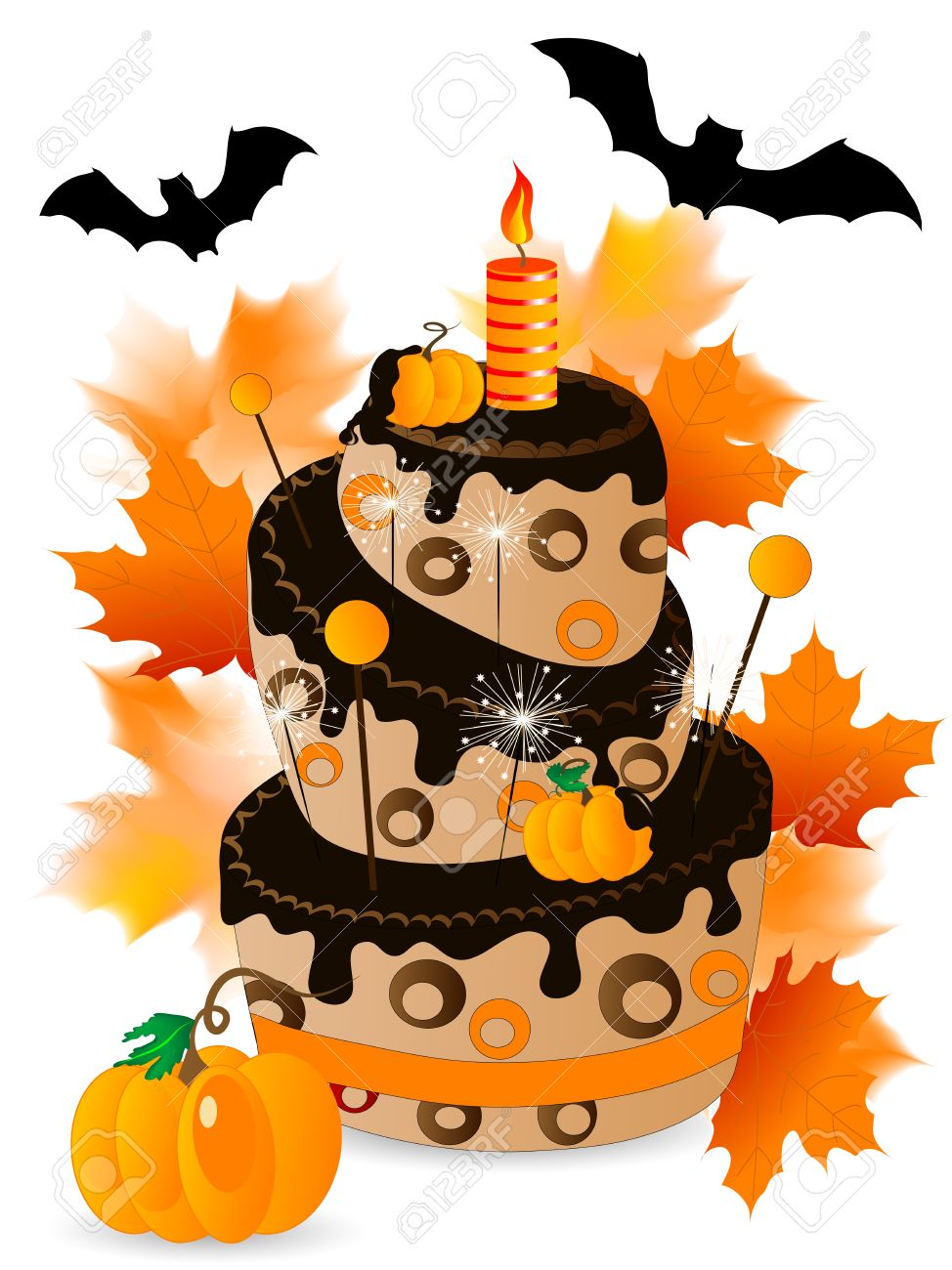 Halloween Cake With Chocolate, .-Halloween cake with chocolate, .-10