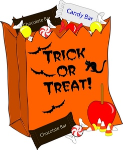 Halloween Candy Bag Clipart #1