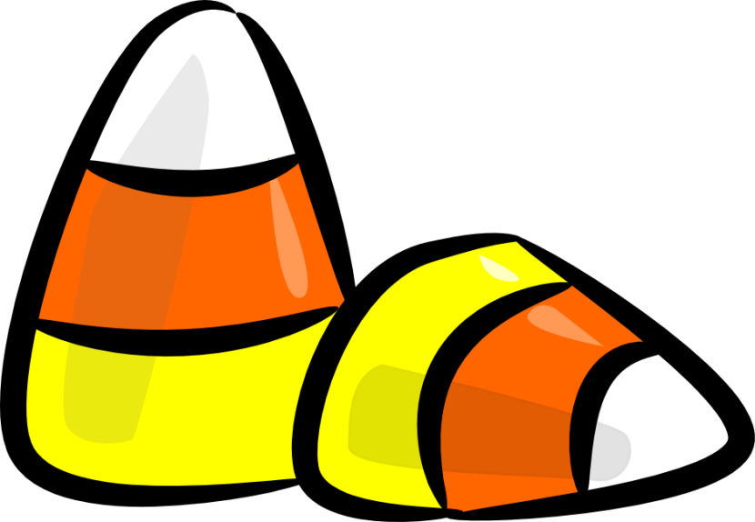 Halloween Candy Corn Clipart .