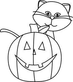Halloween Clip Art Black And White - clipartall .