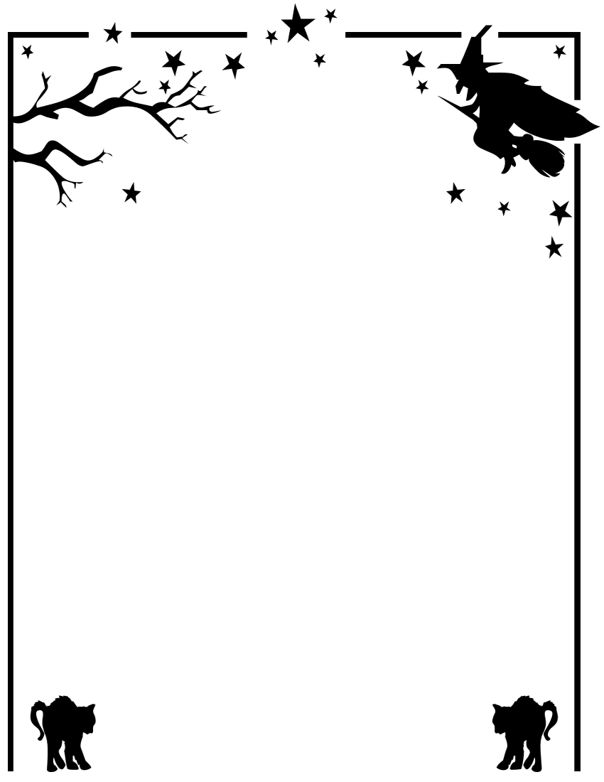 Halloween Clip Art Borders 958 X 1210 330 Kb Png Red Star Border Clip