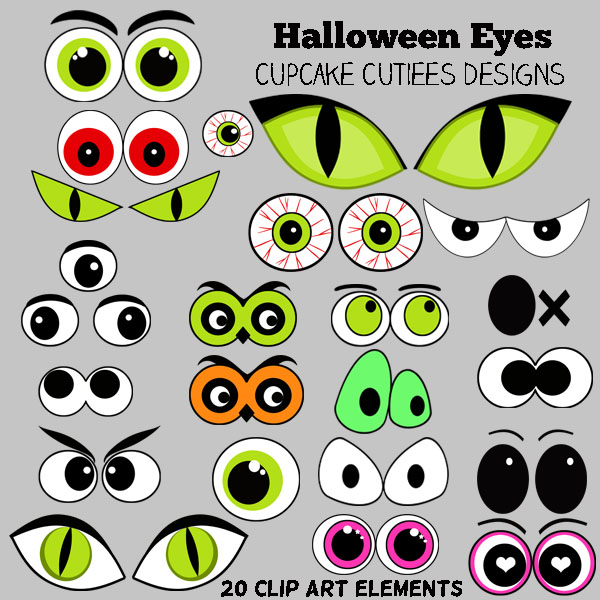 Halloween Clip Art Spooky Eye - Spooky Eyes Clip Art
