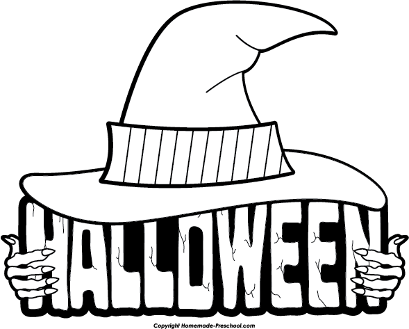 Halloween Clipart Black And White Halloween Clip Art Black And
