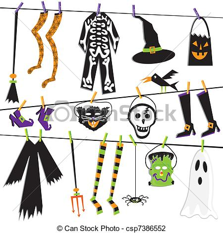 ... Halloween Costume Clothesline Clip A-... Halloween Costume Clothesline Clip Art-14