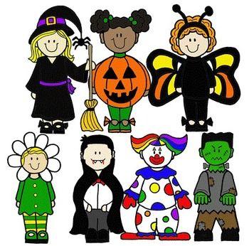 halloween costumes clip art | CLIP ART~ HALLOWEEN KIDS - TeachersPayTeachers clipartall.com